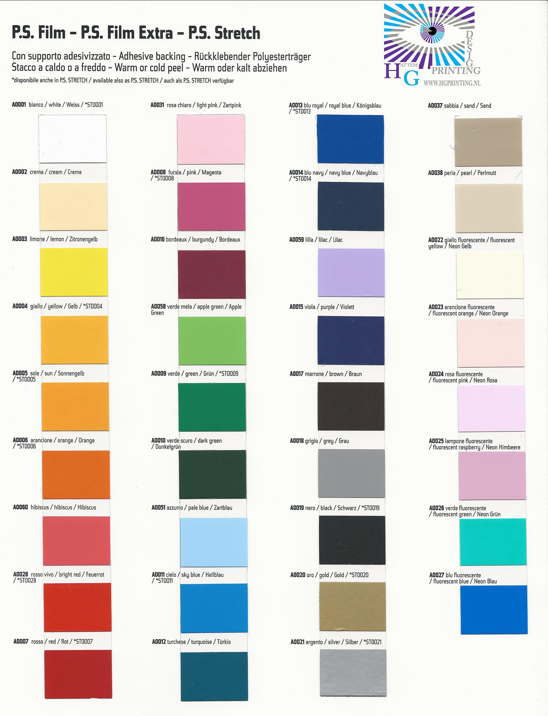 kleuren kaart